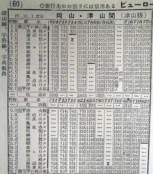 時刻 津山 表 線 津山駅(JR津山線 岡山方面)の時刻表